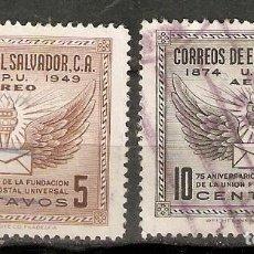 Sellos: EL SALVADOR.1949. CORREO AÉREO A 104,105. Lote 194968880