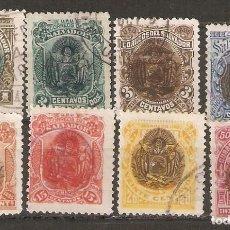 Sellos: EL SALVADOR.1894. YT 91/96,98,101. Lote 195026640