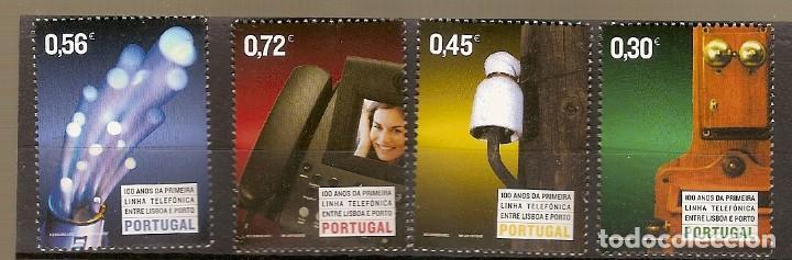 PORTUGAL ** & 100 AÑOS DE LA PRIMERA LÍNEA TELEFÓNICA ENTRE LISBOA Y OPORTO 2004 (3129) (Sellos - Temáticas - Varias)