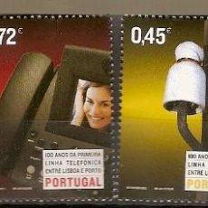 Sellos: PORTUGAL ** & 100 AÑOS DE LA PRIMERA LÍNEA TELEFÓNICA ENTRE LISBOA Y OPORTO 2004 (3129). Lote 195439853