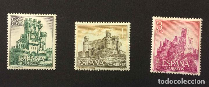 Sellos: Serie 8 sellos: CASTILLOS (España) CONFIL. 1966 ¡Originales! Nuevos. Coleccionista - Foto 3 - 195981687
