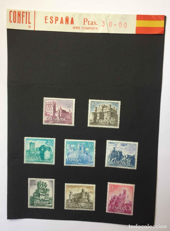 Sellos: Serie 8 sellos: CASTILLOS (España) CONFIL. 1966 ¡Originales! Nuevos. Coleccionista - Foto 7 - 195981687
