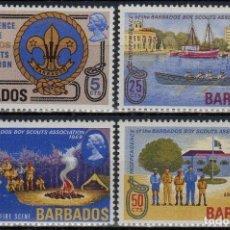 Sellos: BARBADOS 1969 IVERT 300/3 * INDEPENDENCIA MOVIMIENTO SCOUT Y 50º ANIVERSARIO DEL MOVIMIENTO. Lote 197028261
