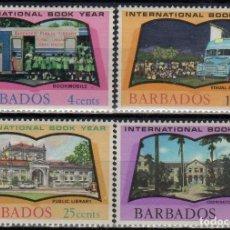 Sellos: BARBADOS 1972 IVERT 353/6 * AÑO INTERNCIONAL DEL LIBRO. Lote 197028420