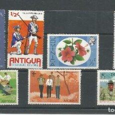 Selos: 7 SELLOS SIN MATASELLAR DE DOMINICA (3) Y ANTIGUA (4). Lote 197401608
