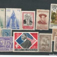Selos: 12 SELLOS SIN MATASELLAR DE AMERICA VARIOS PAISES. Lote 197404068