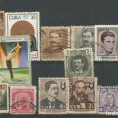 Selos: 13 SELLOS DE CUBA. Lote 197404166