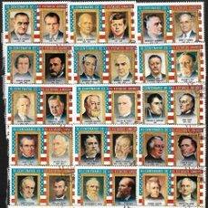 Sellos: LOTE SELLOS DE PINTURAS VARIOS PRESIDENTES ESTADOUNIDENSES 18 SELLOS 36 PRESIDENTES. Lote 198034550