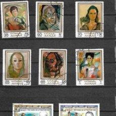Sellos: LOTE SELLOS DE PINTURAS VARIOS . Lote 198034655