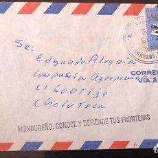Sellos: HONDURAS SOBRE 1969 CONTRAMARCA POST GUERRA DEL FÚTBOL. Lote 198428983