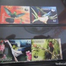 Sellos: DOMINICA 4 V. WWF NUEVO. Lote 198607900