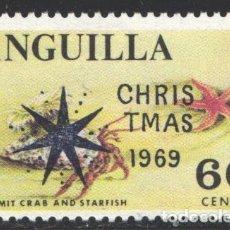Sellos: ANGUILLA, 1969 YVERT Nº 51 /**/, FAUNA MARINA, ESTRELLA DE MAR. . Lote 199677712