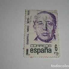 Sellos: SELLO DE 6 PESETAS DE GABRIEL MIRÓ 1980. Lote 201806037