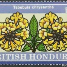 Sellos: SELLO BRITISH HONDURAS 1/2 TABEBULA CHYSANTHS. Lote 218078581