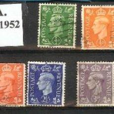 Sellos: LOTE DE SELLOS DE INGLATERRA. JORGE VI (1937-1952). Lote 203334372