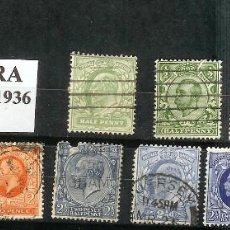 Sellos: LOTE DE SELLOS DE INGLATERRA. JORGE V (1910-1936). Lote 203335250