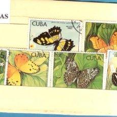 Sellos: LOTE DE SELLOS DE CUBA. SERIE MARIPOSAS. Lote 203384918