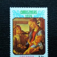Sellos: GRENADA, 1,2C, ARTE Y RELIGION, CHRISTMAS, AÑO 1974 NUEVO,. Lote 203628440