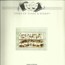 Sellos: ANTIGUA & BARBUDA HOJA BLOQUE DE SELLOS DE LA FAMOSA ORQUESTA - HELL`S GATE STEEL ORCHESTRA. Lote 205051382