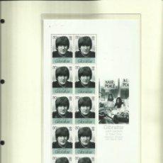 Sellos: GIBRALTAR HOJA BLOQUE SELLOS CONMEMORATIVOS DE LA BODA DE JOHN LENNON CON YOKO ONO- THE BEATLES. Lote 205056388