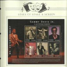 Sellos: HOJA BLOQUE DE SELLOS DEL CANTANTE- BAILARIN-MUSICO- ACTOR Y COMEDIANTE SAMMY DAVIS JR. Lote 205193808