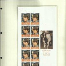 Sellos: GIBRALTAR HOJA BLOQUE SELLOS CONMEMORATIVOS DE LA BODA DE JOHN LENNON CON YOKO ONO- THE BEATLES. Lote 205195823