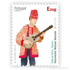 Sellos: PORTUGAL ** & AÇORES AUTOADESIVOS, NSTRUMENTOS MUSICALES, AZORES VIOLA DA TERRA 2020 (78881). Lote 206151206