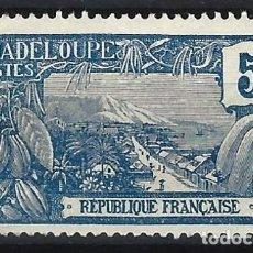 Sellos: GUADALUPE 1922-27 - MONTE HOUELMONT - SELLO SIN GOMA. Lote 206384510
