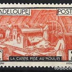 Sellos: GUADALUPE 1928-38 - REFINERÍA DE AZÚCAR - SELLO SIN GOMA. Lote 206384755