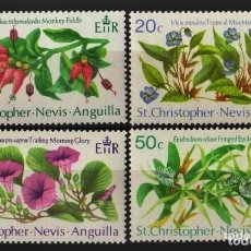 Sellos: ST CRISTOPHER NEVIS ANGUILLA 1971 - FLORES - YVERT Nº 251/254**. Lote 206448275