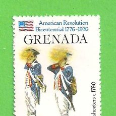 Sellos: GRANADA - MICHEL 749 - YVERT 667 - ANIV. DE LA REVOLUCIÓN AMERICANA. (1976).** NUEVO SIN FIJASELLOS.. Lote 206920221