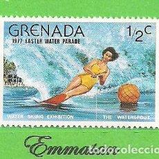Sellos: GRANADA - MICHEL 832 - YVERT 735 - EXHIBICIÓN DE ESQUÍ ACUÁTICO. (1977).** NUEVO SIN FIJASELLOS.. Lote 206921613