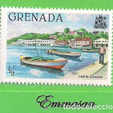 Sellos: GRANADA - MICHEL 1047AI - YVERT 931 - CANOAS DEL CARIBE. (1980).* NUEVO CON SEÑAL. Lote 206923391