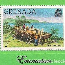 Sellos: GRANADA - MICHEL 1048AI - YVERT 932 - EDIFICIOS DE BARCOS. (1980).* NUEVO CON SEÑAL. Lote 206923873