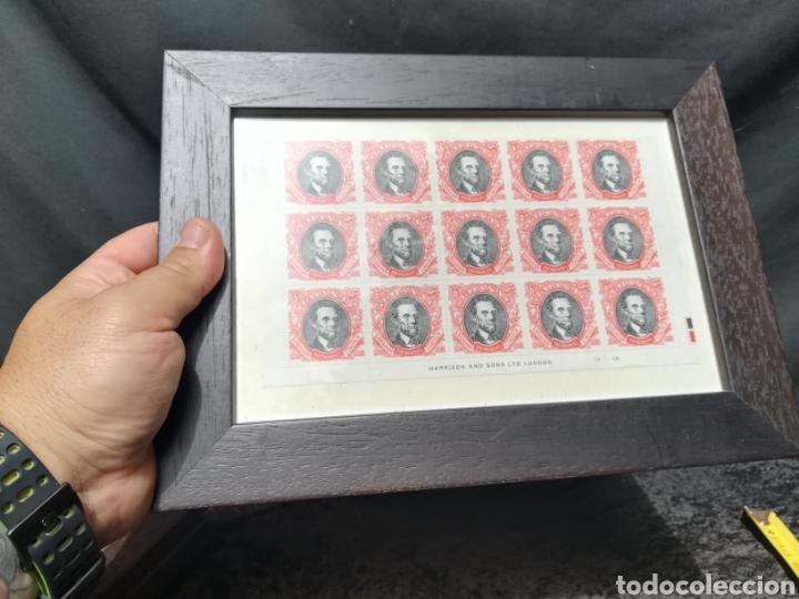 Sellos: Lote de plancha de sellos de Lincoln enmarcada - Foto 2 - 208331232