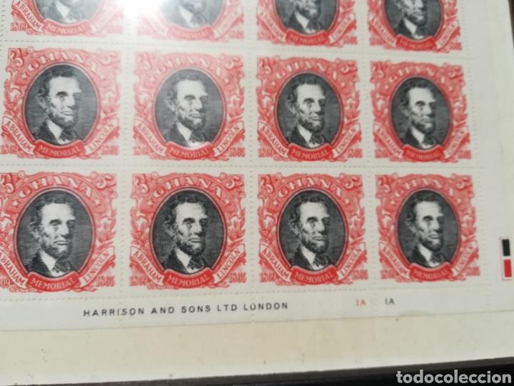 Sellos: Lote de plancha de sellos de Lincoln enmarcada - Foto 4 - 208331232