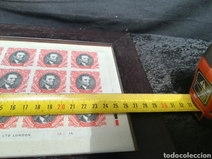 Sellos: Lote de plancha de sellos de Lincoln enmarcada - Foto 5 - 208331232