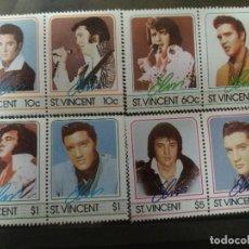 Sellos: SAN VICENTE 1985 IVERT 870/7 *** HOMENAJE AL CANTANTE ELVIS PRESLEY - MÚSICA ROCK. Lote 254266520