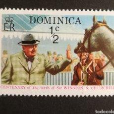 Sellos: DOMINICA, CENTENARIO DEL NACIMIENTO DE WINSTON CHURCHILL 1974 MNH (FOTOGRAFÍA REAL). Lote 208693190