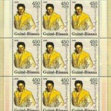 Sellos: GUINEA 2005 HOJA BLOQUE SELLOS CINE ELVIS PRESLEY. Lote 209066825