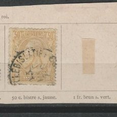 Timbres: LOTE (4) SELLOS BELGICA SIGLO XIX. Lote 209194157