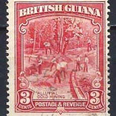 Selos: GUAYANA BRITÁNICA 1934-51 - MINA DE ORO - SELLO USADO. Lote 209350262