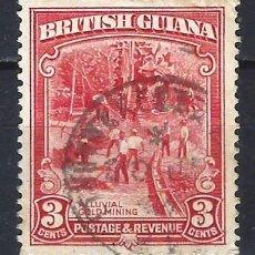 Selos: GUAYANA BRITÁNICA 1934-51 - MINA DE ORO - SELLO USADO. Lote 209350296