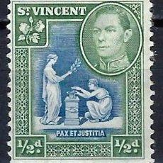 Selos: SAN VICENTE 1938 - REY JORGE VI, PAZ Y JUSTICIA - SELLO NUEVO C/F*. Lote 209645657