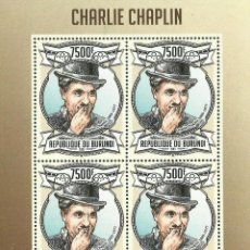 Sellos: BURUNDI 2013 HOJA BLOQUE DE SELLOS CINE CHARLIE CHAPLIN. Lote 210701487