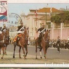Sellos: PORTUGAL & MAXI, PALACIO DE BELÉM, RENDER DE LA GUARDIA NACIONAL REPUBLICANA, LISBOA 1987 (160). Lote 211435400