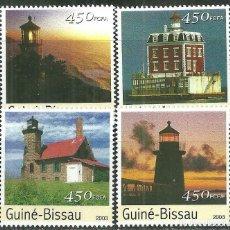 Sellos: GUINEA BISSAU 2003 IVERT 1122/5 *** FAROS MARINOS. Lote 215463638