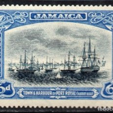 Sellos: JAMAICA/1921/MH/SC#95/ PUERTO REAL EN 1853 / NAVIOS / BARCOS / EMBARCACIONES. Lote 215499825