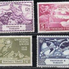 Sellos: TRINIDAD & TOBAGO/1949/MH/SC#66-69/UPU / UNION POSTAL UNIVERSAL. Lote 215501033