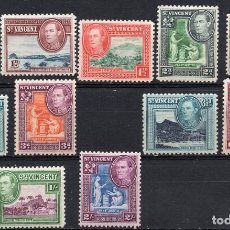Sellos: ST. VINCENT/1938-47/MNH/SC#141-149/ REY EDUARDO VII / REALEZA. Lote 215501485